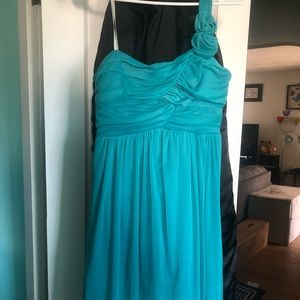 Dresses & Skirts - Short one strap teal/turquoise dress